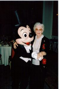 Nannie and Mickey on my wedding day