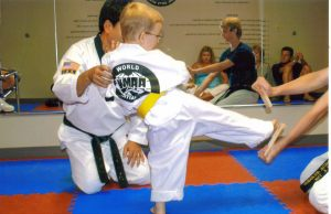 yellow belt kick