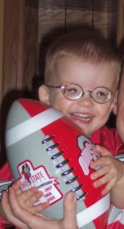Even at age two, Full Speed knew he loved football