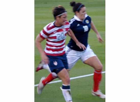Abby Wambach on the move...!
